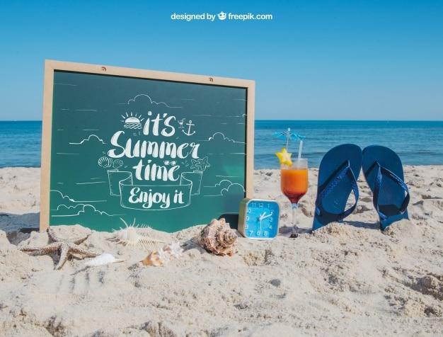 Beach Plus Flip Flops Summer Concept