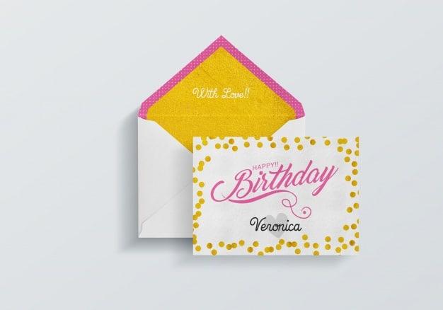 Colorful Birthday Card Plus Envelope