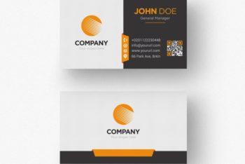 Business Card Design PSD Mockup – Colorful Design & Useful Features