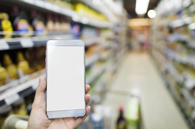 Smartphone Browsing Plus Supermarket