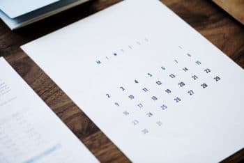 Free Business Calendar Concept Mockup in PSD
