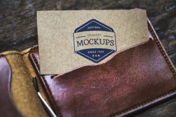 Free Calling Card Plus Wallet Mockup in PSD