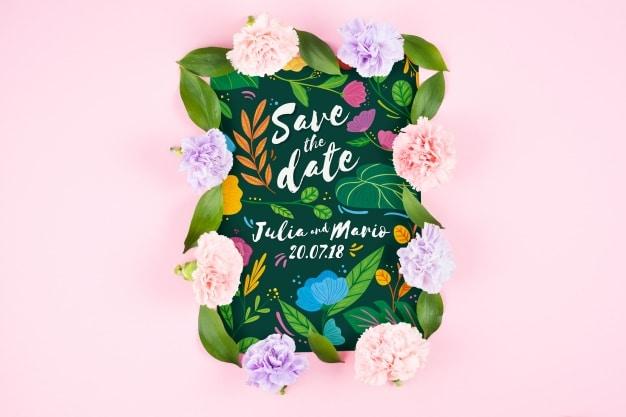 Wedding Card Plus Flowers