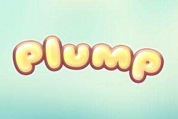 Free Plump Cartoon Text Mockup in PSD