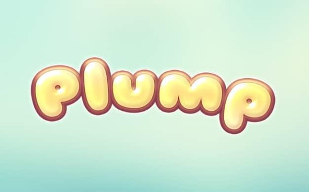 Plump Cartoon Text