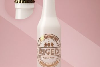 Free Ceramic Bottle Design Mockup in PSD