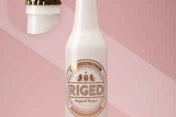 Free Ceramic Bottle Design Mockup in PSD
