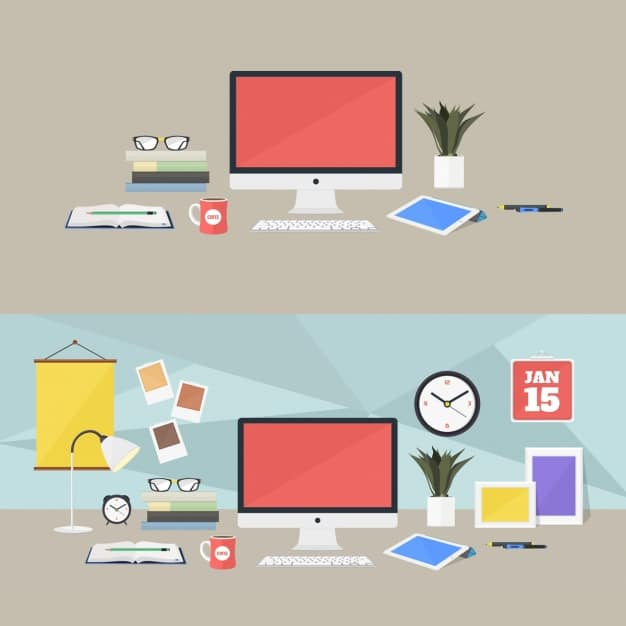 Colorful Workplace Vector