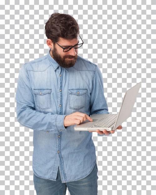 Hipster Plus Laptop Scene