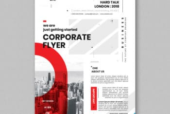 Free Modern Busy Corporate Flyer Mockup in PSD
