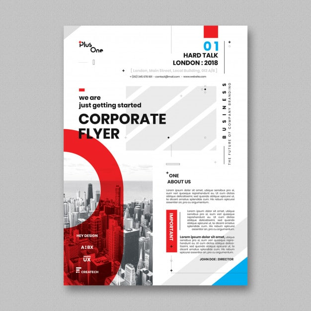 Modern Busy Corporate Flyer