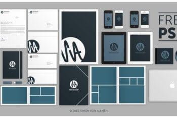 Free Stylish Uniform Corporate Identity Mockup in PSD