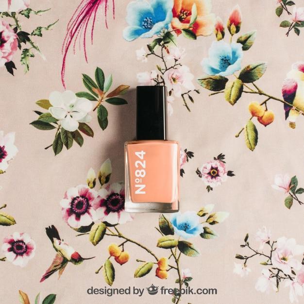 Floral Nail Polish Scene