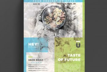 Free Creative Gastronomy Flyer Mockup in PSD