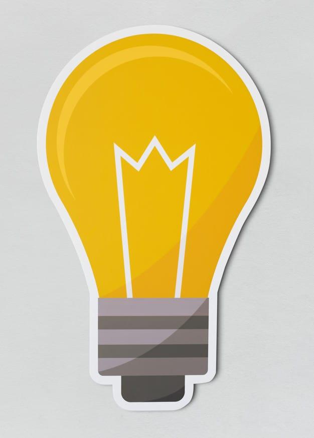 Creative 2D Light Bulb