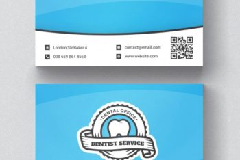 Free Dentist Business Card Mockup in PSD
