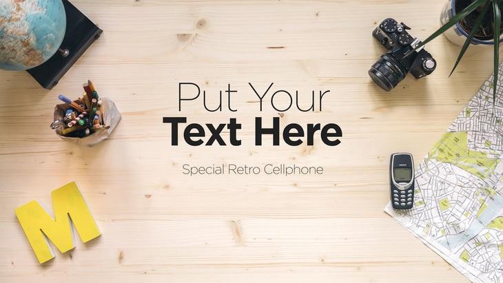 Retro Workspace Plus Old Gadgets