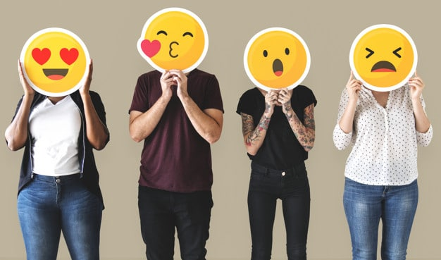 Diverse People Plus Emoticons