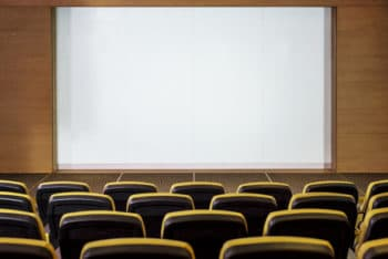 Free Small Empty Cinema Mockup in PSD