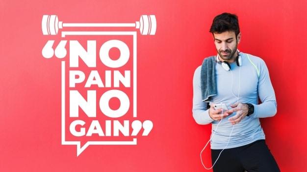 Motivational Fitness Quote Scene