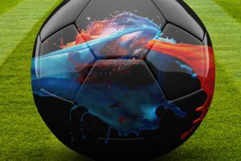 Free Shiny Soccer Ball Mockup in PSD