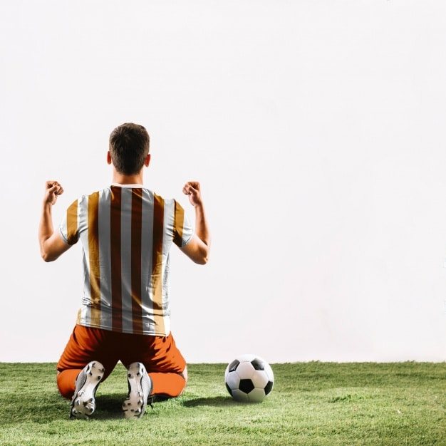 Celebrating Football Player