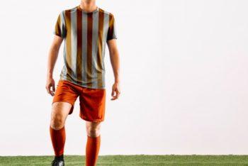 Free Football Player Scene Mockup in PSD
