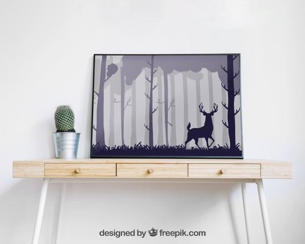 Minimalist Frame Plus Table Drawer