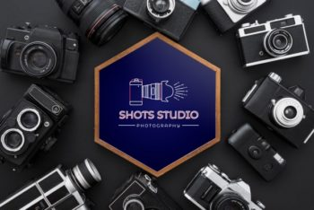 Free Hexagon Photography Frame Mockup in PSD
