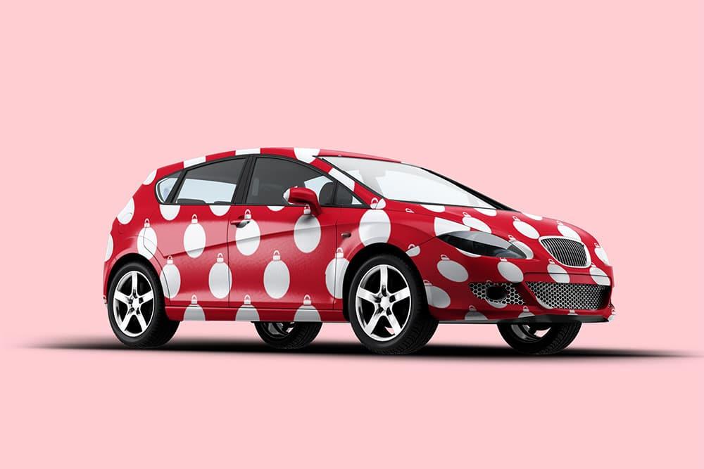 free car vehicle mockup