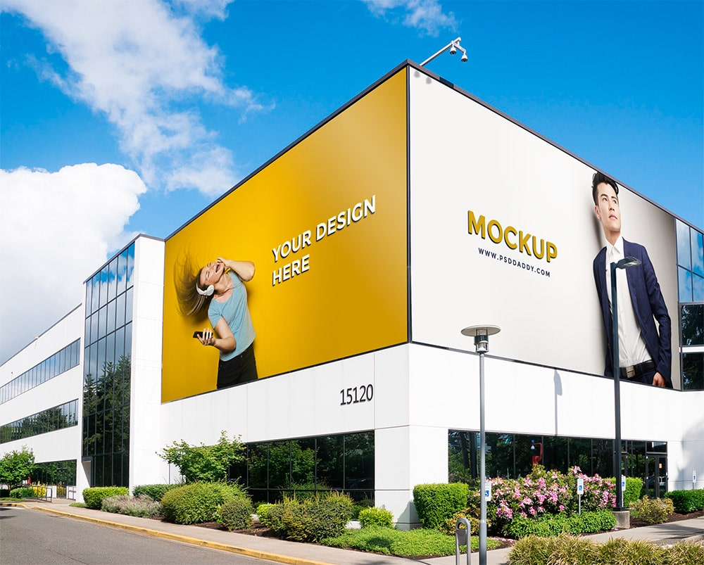 free outdoor advertising mockup