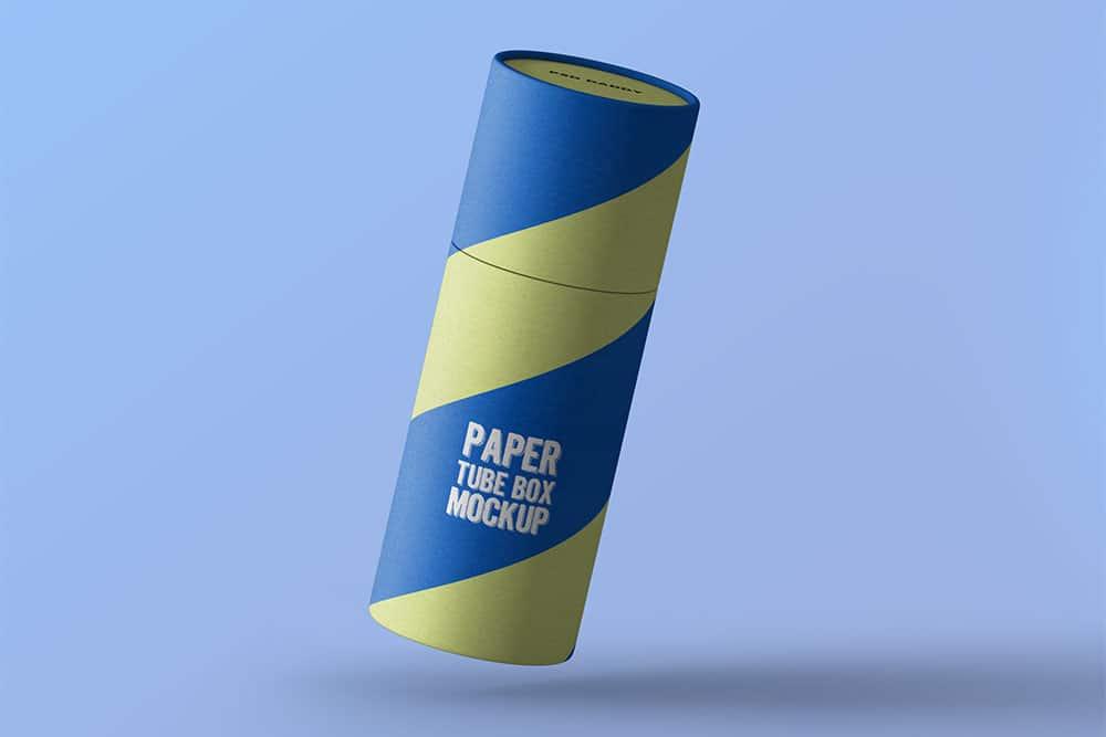 free paper tube packaging mockup