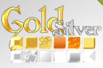 Free Gold Plus Silver Effects Mockup in PSD