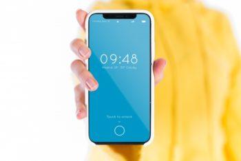 Free Smartphone Plus Modern Bezel Mockup in PSD