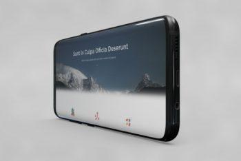 Free Horizontal Smartphone Scene Mockup in PSD