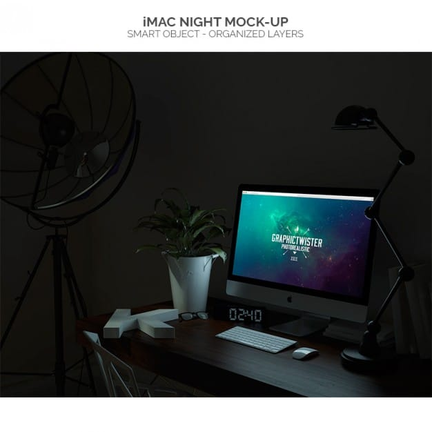 Glowing Night iMac