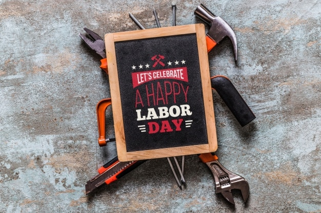 Labor Day Tools Promotion Mockup