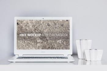 Free Elegant Acer Chromebook Mockup in PSD
