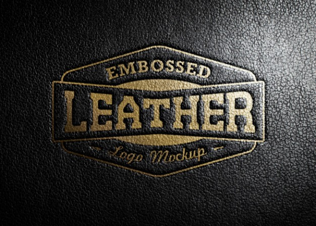 Shiny Leather Stamping Logo