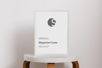 Multipurpose Magazine Cover PSD Mockup for Photorealistic Presentation