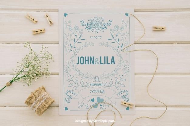 Wedding Invitation Plus Ornament