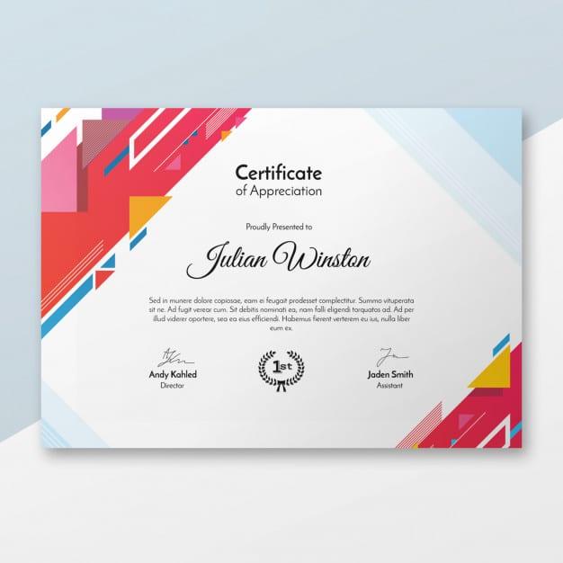 Modern Stylish Certificate