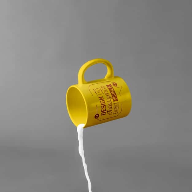 Mug Spilling Milk
