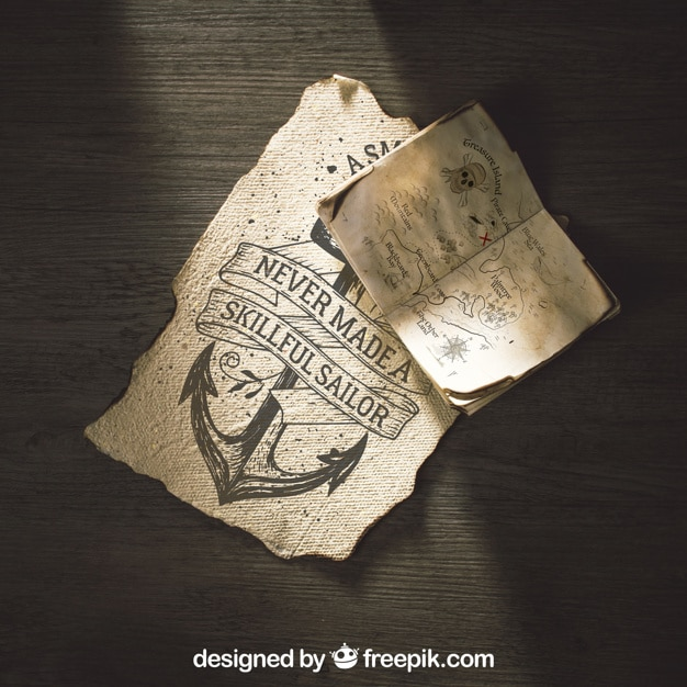 Old Paper Sailing Concept