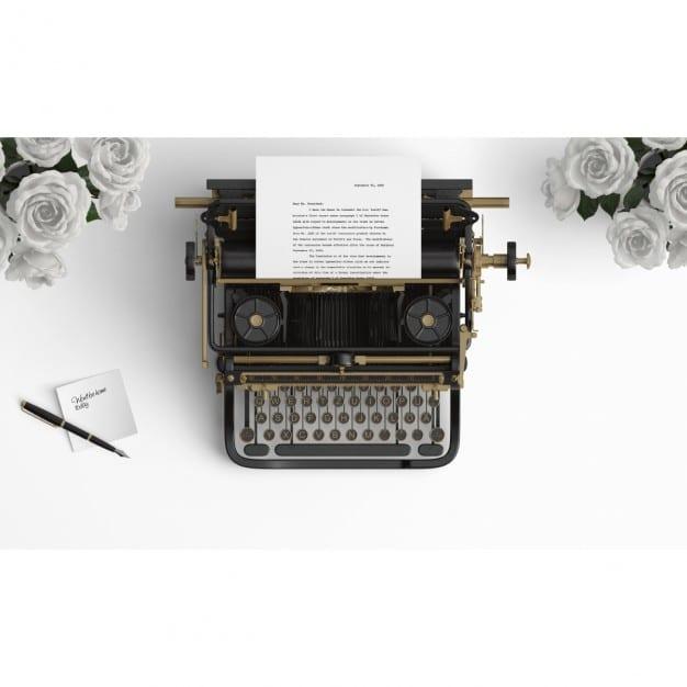 Old Typewriter Scene