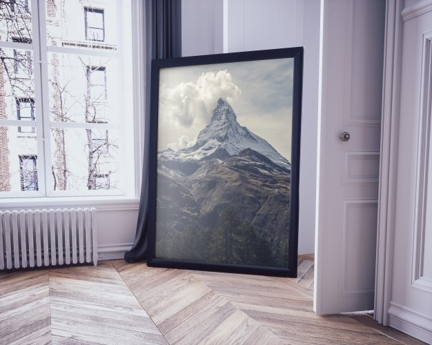 Free Big Room Painting Design Mockup in PSD - DesignHooks