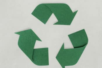 Free Paper Craft Recycle Icon Mockup in PSD