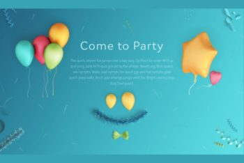 Free Party Scene Design Mockup in PSD