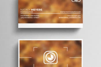 Free Professional Photography Business Card Mockup