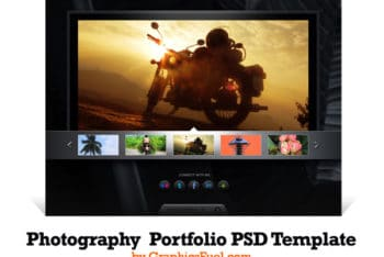 Photography Portfolio Website PSD Mockup – Available with a Professional Look